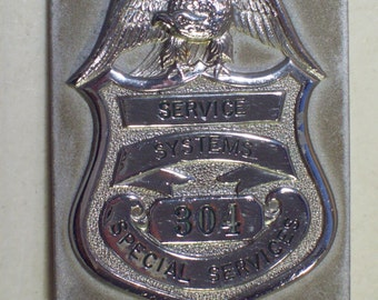 Vintage Service Systems Special Services Badge, Obsolete