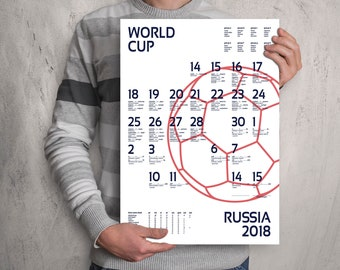 World Cup 2018 wall chart poster. Customizable World Cup wall chart. England . FAST SHIPPING