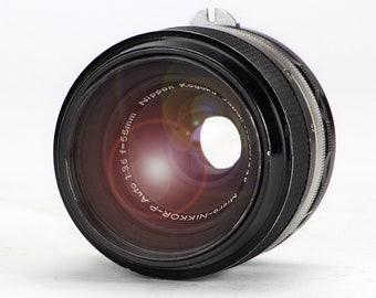 Retro 1966 Micro-Nikkor-P 55mm f3.5 non-AI Nikon 35mm Lens – Photography Collector USED