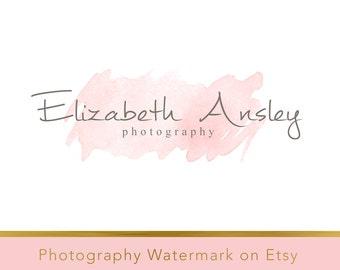 Instant download logo - DIY Pre-made Logo - Photo Watermark - Watermark Design - Whimsical Logo - Watercolor Logo - PSD logo - Watercolor 13