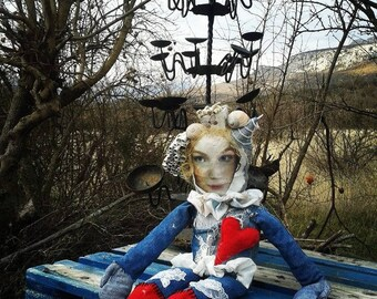 Christine - handmade, original, unique, one of a kind, art doll by Milena
