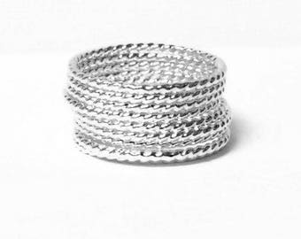 Stacking rings Sterling silver ring twist ring Sterling silver stacking ring set stackable rings sterling ring stack everyday jewelry
