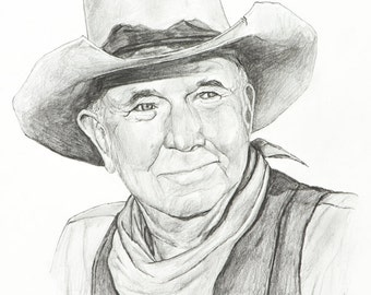 Walter Brennan Pencil Sketch