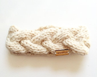 Cable braided winter headband
