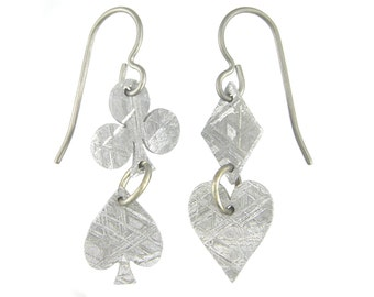 Meteorite Card Suit Earrings
