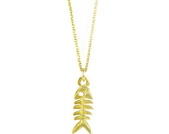 Fish Necklace in 14 Karat Gold