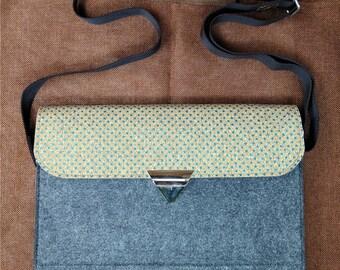 13 inch Macbook pro case,15 inch laptop sleeve, Macbook air sleeve.holiday gift, shoulder bag ,Cross Body Bag,adjustable strap bag,B5D14