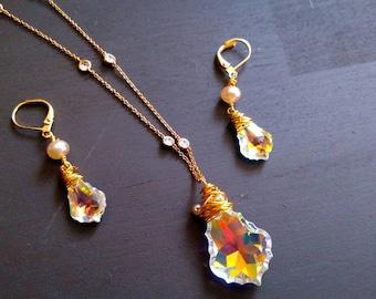 Swarovski Baroque Crystal Necklace