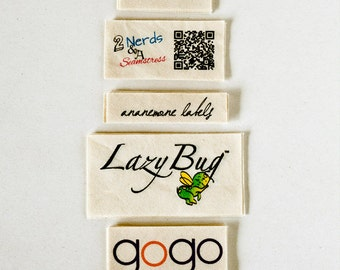 Natural Fabric Labels - custom clothing tags (sewing and knitting tags), bulk options