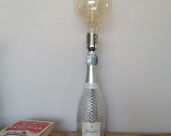 Up-cycled Bottle Lamps