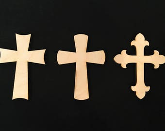 Sets of 10 Wooden Crosses, Wall Hangings, Sunday School, Bible School, Church