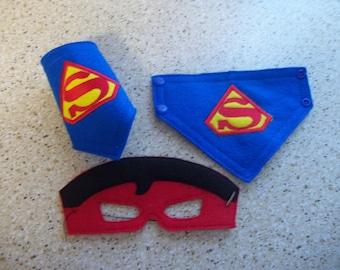 Superman Mask and Cuff Set