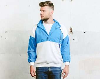 Mens Sailing Sweatshirt . Yachting Vintage 1990s Anorak Smock Jacket Sports Sweater Smock 90s Hip Hop Skater Sweater . size Medium M