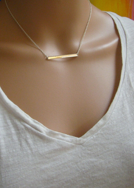 Wedding Gift For Bride Roman Numeral Date Necklace Skinny