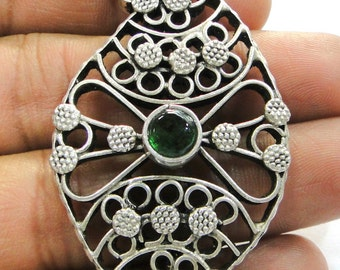 Traditional design sterling silver Necklace Pendant Amulet Handmade Jewelry