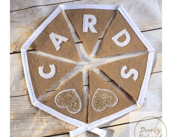Wedding Cards Bunting, Wedding Reception Bunting, Wedding Cards Sign, Wedding Cards Banner, Wedding Recepion Banner, Rustic Wedding Decor