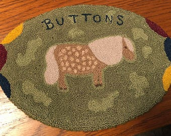 primitive punch needle Buttons horse epattern download