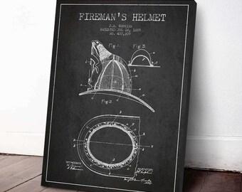 1889 Feuerwehrmann Helm Patent, Feuerwehrmann Poster, Feuerwehrmann Print, Feuerwehrmann-Wand-Dekor, Inneneinrichtungen, Geschenkidee, PFFD10C