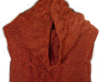 Hooded Snood brick cable