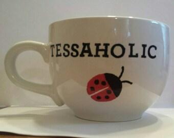 Handpainted Tessaholic Coffee Mug