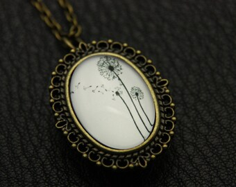 V2-Necklace Watch dandelions