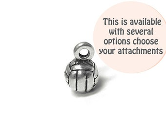 Volleyball Ball Charm Silver 6.75mm, silver Volleyball Charms, Sterling Silver Charms, Team Sports charms, Volleyball Ball charms SP660