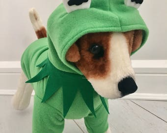 Dog frog costume/ Green frog by FiercePetFashion