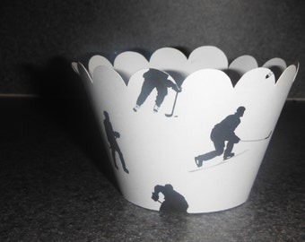 Hockey Cupcake Wrappers