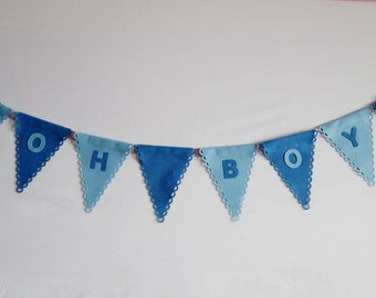 Baby Shower Bunting Custom Banner, Party Bunting, Personalised Bunting, Party Decorations, Birthday Décor, Nursery Decor