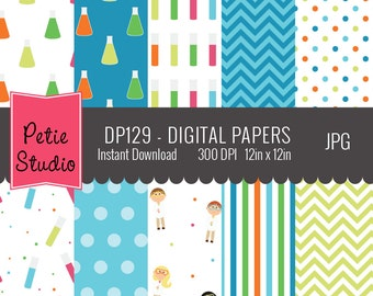 Chemistry Digital Papers // Science Class Papers // Science Kids Papers - DP129