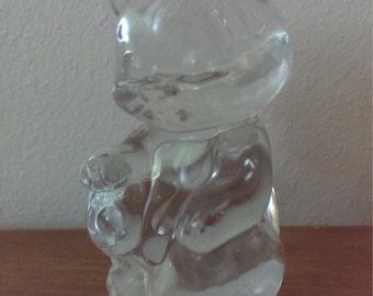 Clear Glass Fenton Bear