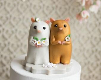 Hamster Wedding Cake Topper