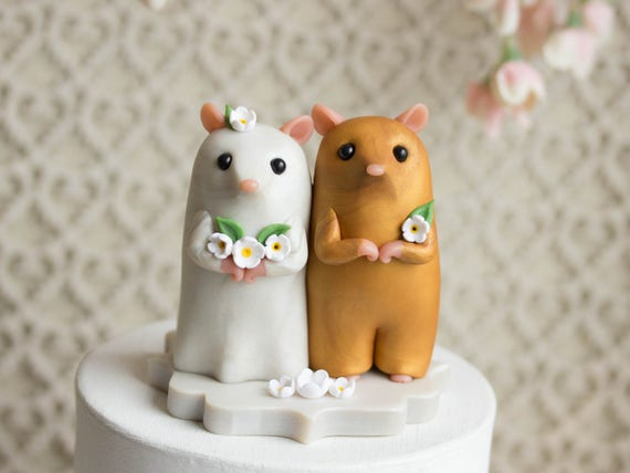 Hamster Wedding Cake Topper