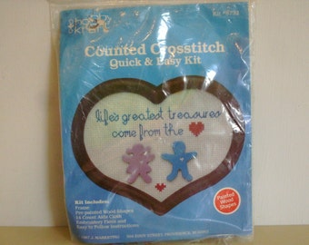 Vintage Counted Crossstitch Heart