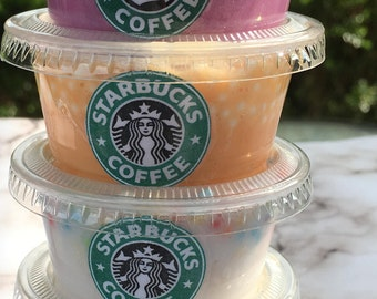 Starbucks Inspired Pokemon GO Slime Bundle (Set of 4) Scented Fluffy Floam Birthday Slime, Party Favor, Therapy Tool, Sensory Play