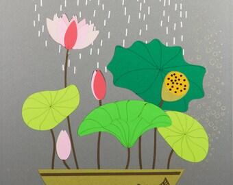 Rain Cloud over Lotus (2018-16)
