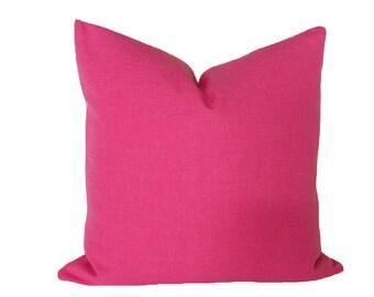 Decorative Pink Pillow, 12x18 Lumbar Pillow, Pink Accent Pillows, Pink Pillow Cover, Solid, Bubble Gum Pink Pillow, Girls Cushion Cover