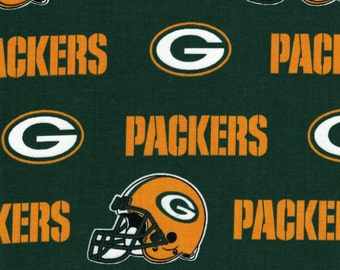 Green Bay Packers Helmet Fabric- NFL - 100% Cotton High Quality Fabric- by Fabric Traditions