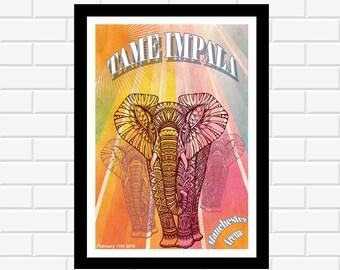 Tame Impala Poster - Music Poster - Concert Poster - Album Art - Music Gift - Music Print - Wall Art - Home Decor