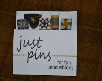 Around the Block Pincushion Pins