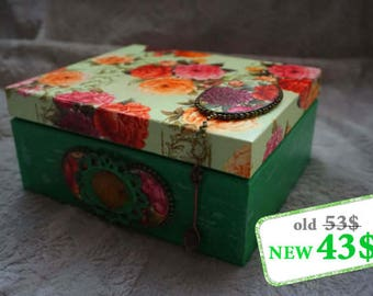 Tea box. Tea storage box. Wooden box. Tea bag box. Tea bag storage.
