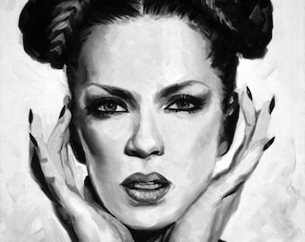 Shirley Manson Fine Art Print (Garbage - Supervixen - Queer - Only Happy When It Rains - Bleed Like Me - Icons - Art - Scotland - Portrait)