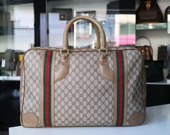 Reserved ***Vintage Authentic GUCCI Travel Bag Luggage Suitcase