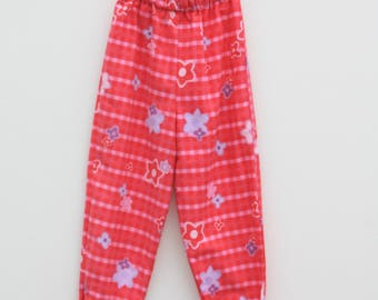 Upcycled Pink Check Kids Trousers