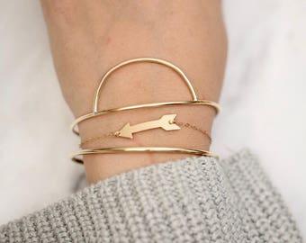 Minimalist Bracelet • Contemporary Bracelet • Simple Bracelet • Gold  Bracelet • Rose Gold Bracelet • Silver Bracelet • Modern Bracelet