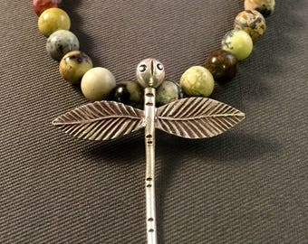 Silver Dragonfly & Turquoise