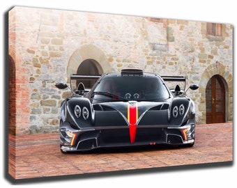 Awesome PAGANI ZONDA Canvas/Poster Wall Art Pin Up HD Gallery Wrap Room Decor Home  Decor