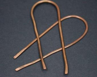 Hairpins Copper Hair Pins Boho Hair Jewelry Copper Hair Fork Hammered Rustic Copper Hair Pin for Medium Copper Hair Accessories