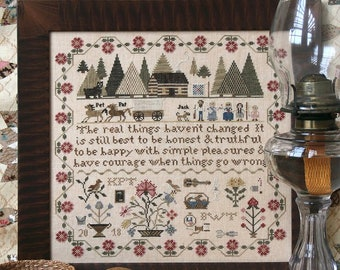 Prairie Life Sampler : Cross Stitch Pattern by Heartstring Samplery