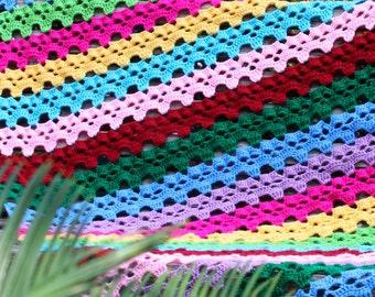 Skulls in a Row Afghan Throw - Crochet PDF Pattern
